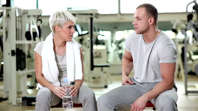 Fitness man and woman video