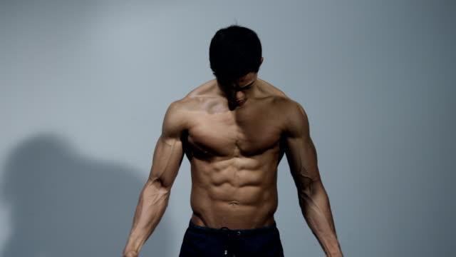 Fitness Model Displays His Muscular Torso video