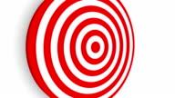 Five Arrows Hit One Target - HD video