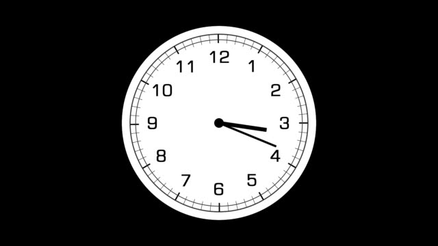 Five different animated clocks video