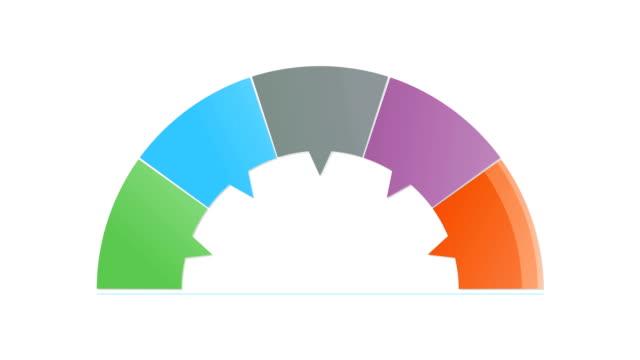 Five fan shape rectangle solution box animation,  presentation animation templete video