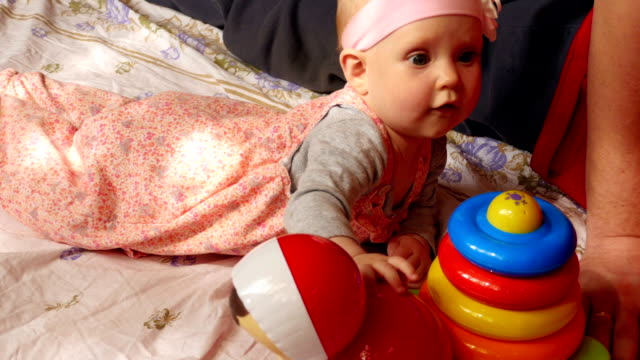 Five month baby girl video