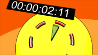 five seconds countdown and stopwatch frames video