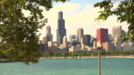 Five shots of Chicago Skyline Montage video
