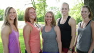 Five Smiling Female Athletes video