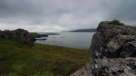 Fjord in west Iceland, with lighthouse video