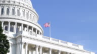 US flag at the United States Capitol in Washington DC video