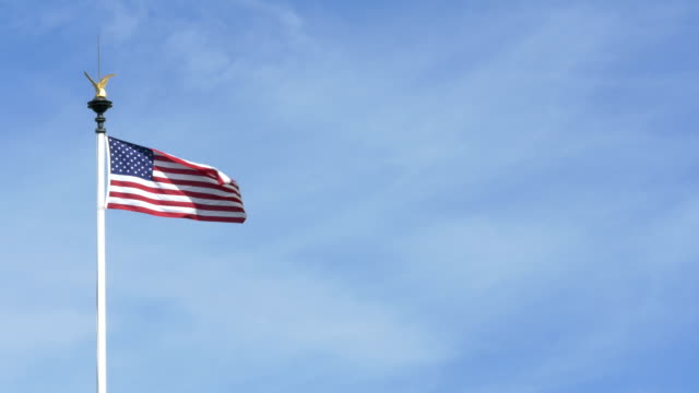 USA flag at World-war II American cemetery video