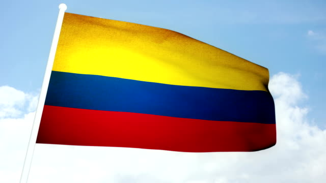 flag Colombia video