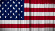 USA flag curtain, Opening and closing, HD, mask. video