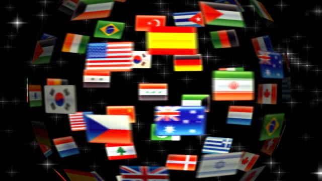 Flag Globe HD 720 video