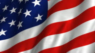 USA Flag HD - waving, looping video