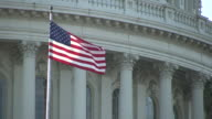 Flag In Front Of Capitol Building video