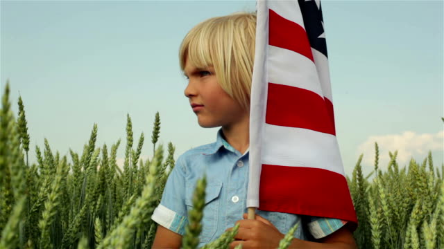 US flag in my hands video