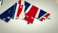 UK flag jigsaw puzzle video