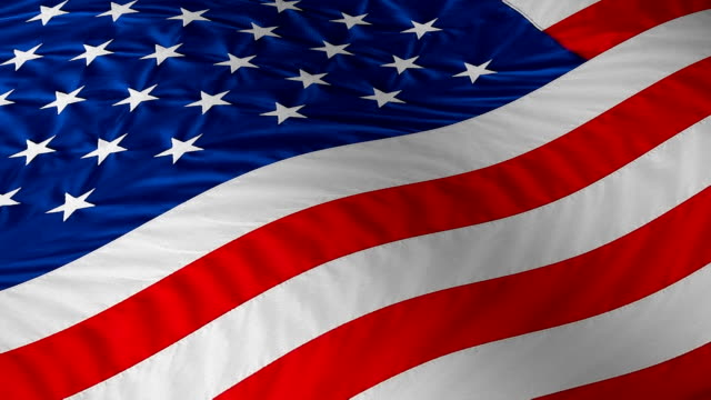 US flag loop with superb details video