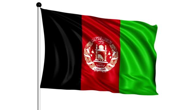 flag of Afghanistan - loop (+ alpha channel) video