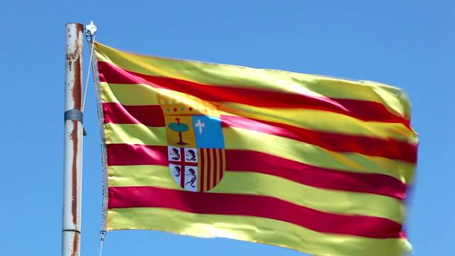 Flag of Aragon, Spain video