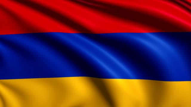 flag of Armenia (loop) video