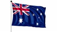 flag of Australia - loop (+ alpha channel) video