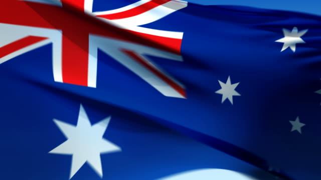 Flag of Australia (HD 1080i60) video