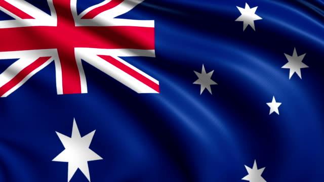 flag of Australia (loop) video