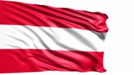 flag of Austria (loop) video