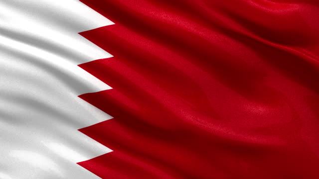 Flag of Bahrain - seamless loop video