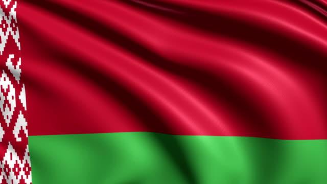 flag of Belarus (loop) video