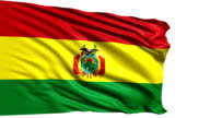 flag of Bolivia (loop) video