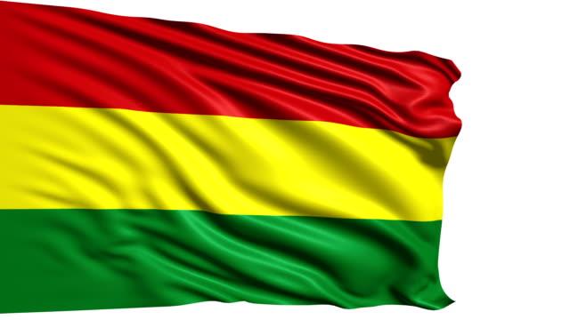 flag of Bolivia (loop) video