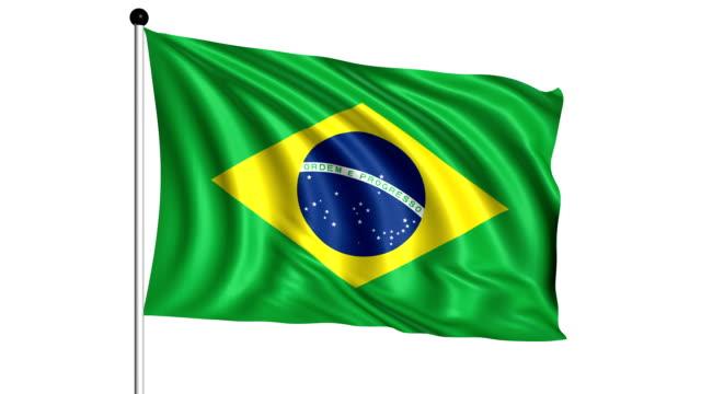 flag of Brazil - loop (+ alpha channel) video