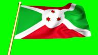 Flag of Burundi  animation video