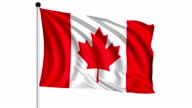 flag of Canada - loop (+ alpha channel) video
