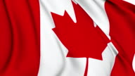 Flag of Canada video