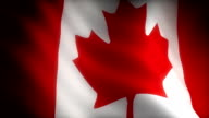 Flag of Canada (seamless) video