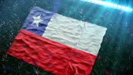 Flag of Chile at the stadium video