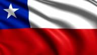 flag of Chile (loop) video