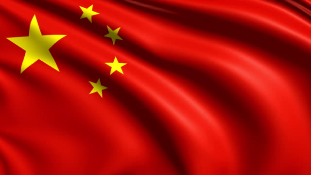 flag of China (loop) video