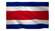 Flag of Costa Rica video