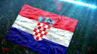 Flag of Croatia at the stadium video