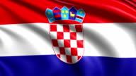 flag of Croatia (loop) video