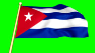 Flag of Cuba  animated with green screen video