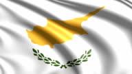 flag of Cyprus (loop) video