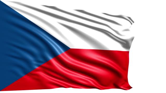 flag of Czech Republic (loop) video