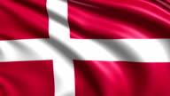 flag of Denmark (loop) video