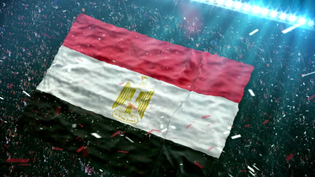 Flag of Egypt at the stadium video