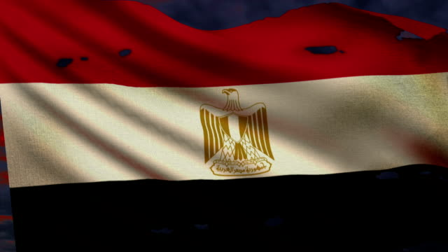 Flag of Egypt, struggle for freedom video