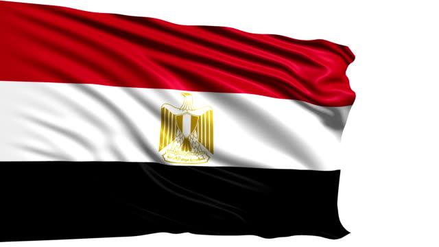 flag of Egypt (loop) video