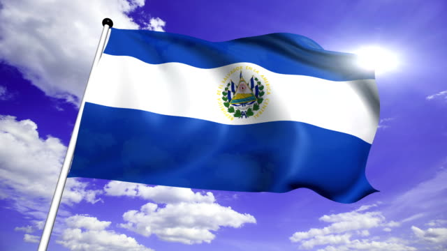 flag of El Salvador (loop) video